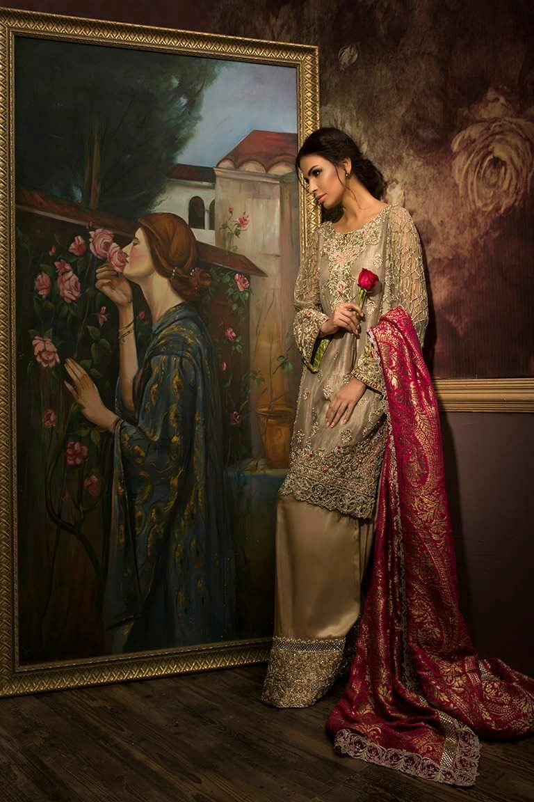 Pakistani Designer Dresses for Engagement and Nikkah Brides