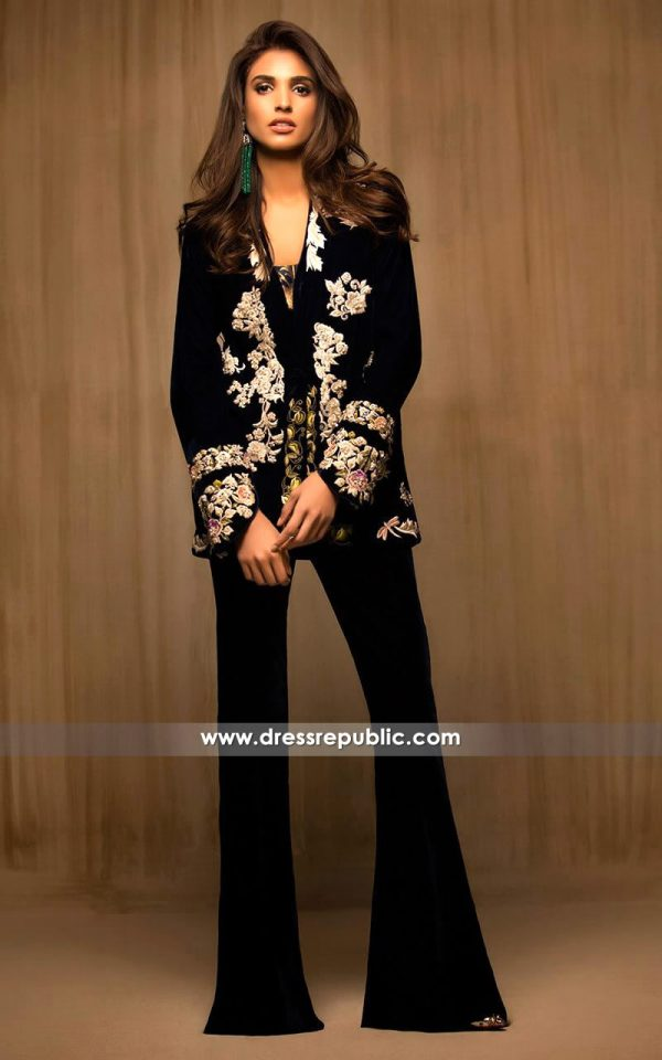 DR14139 - Jet Black Velvet Jacket
