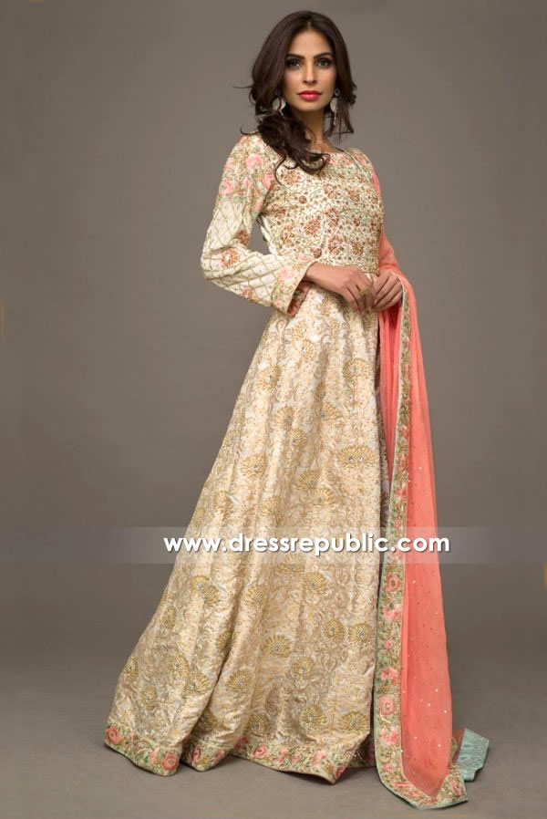 DR14146 - Light Creme Bridal Lehenga