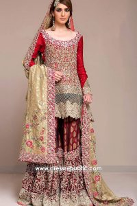 dr14182 - Zainab Chottani Red Bridal Dress Collection UK, USA, Canada, Australia