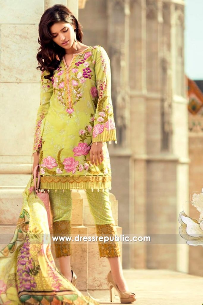 DRP6552 - Mina Hasan Embroidered Lawn 2017