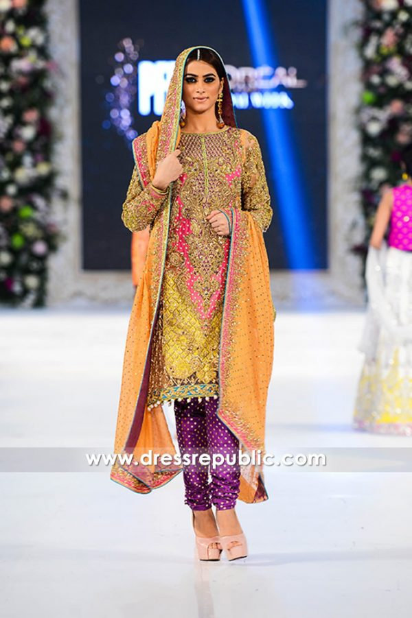 DR14291 - Nomi Ansari Mehndi Dress 2017