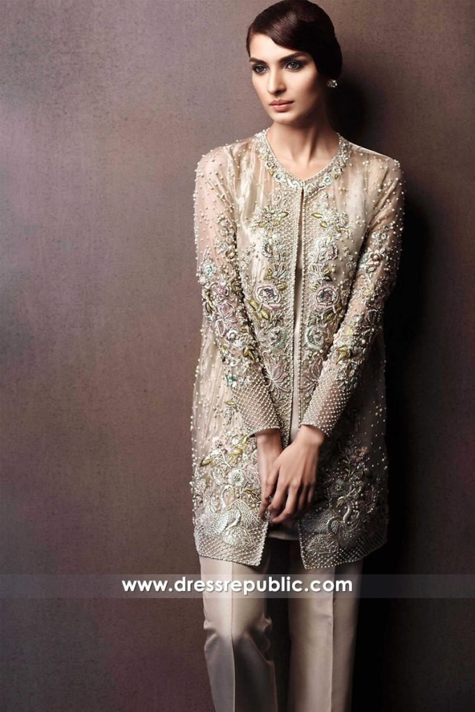 DR14294 - Beaded Chiffon Jacket Dress
