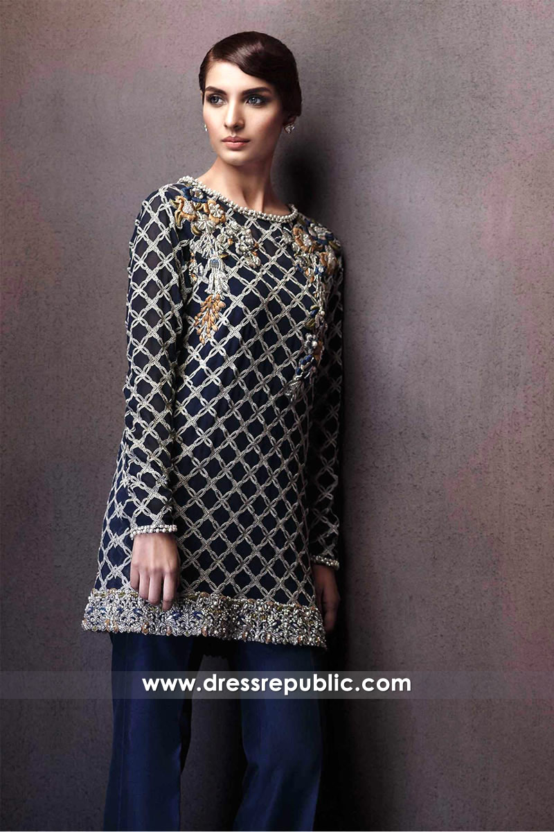 DR14295 - Navy Blue Dress for Hollywood Celebrities