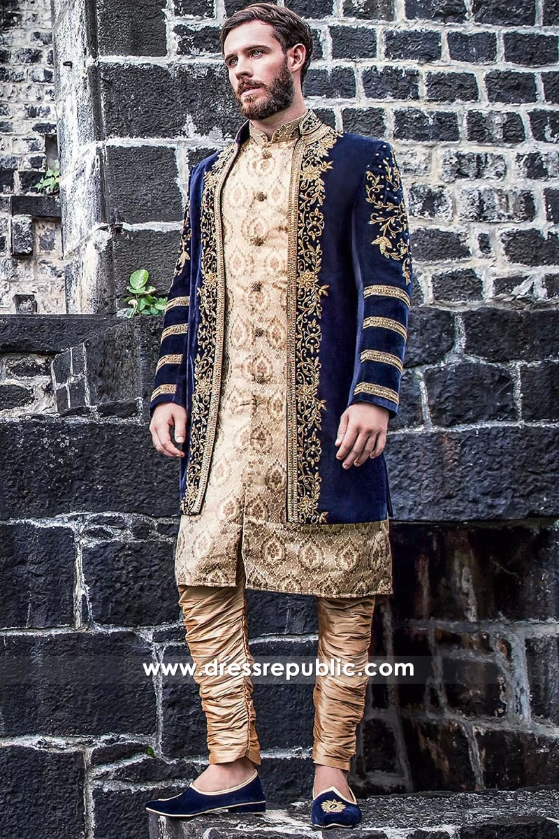 DRM5106 - Bridegroom Sherwani Style 2017 Collection USA