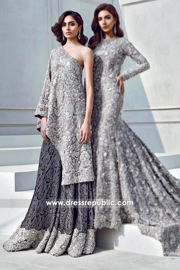 DR14316 - Pakistani Formal Heavy Dress for Wedding Parties and Formal Dinner