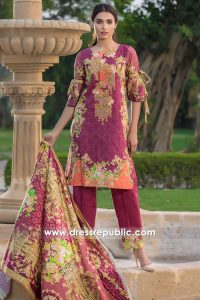 DRP6793 - Wholesalers of Pakistani Printed Embroidered Lawn in USA