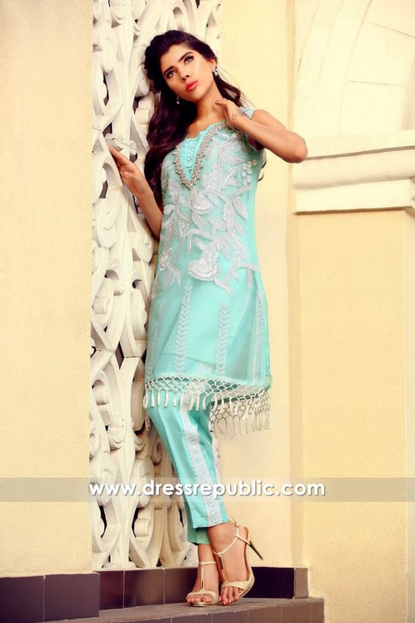 DR14383 - Aquamarine Aab-e-Zar Collection 2017