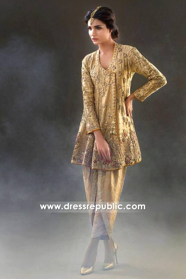 DR14438 - Pakistani Designer Dresses Chicago 2017 & 2018