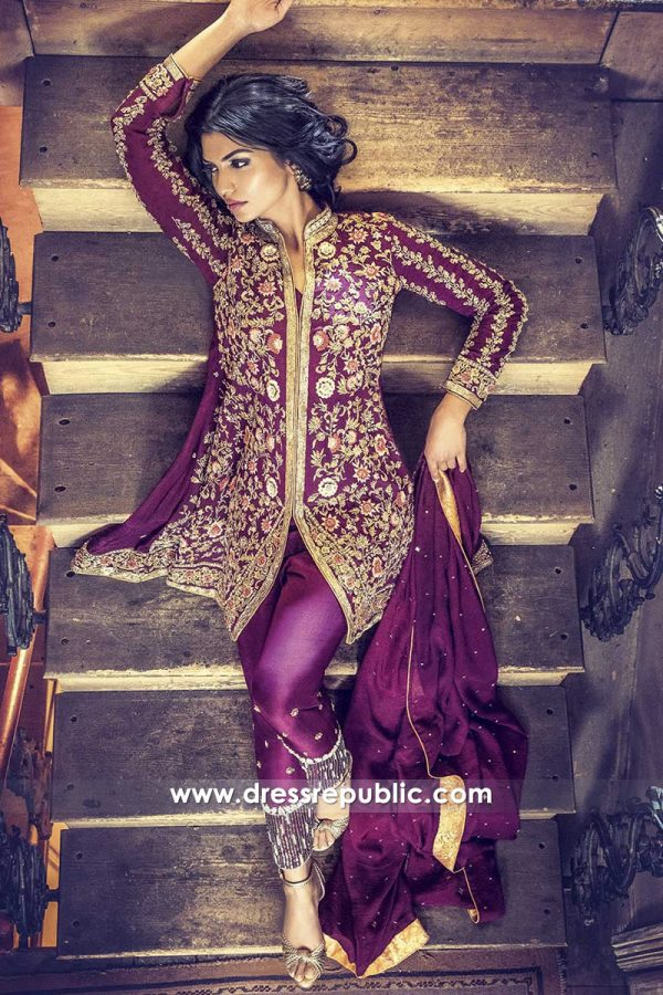 DR14463 - Latest Pakistani Designer Jacket Style