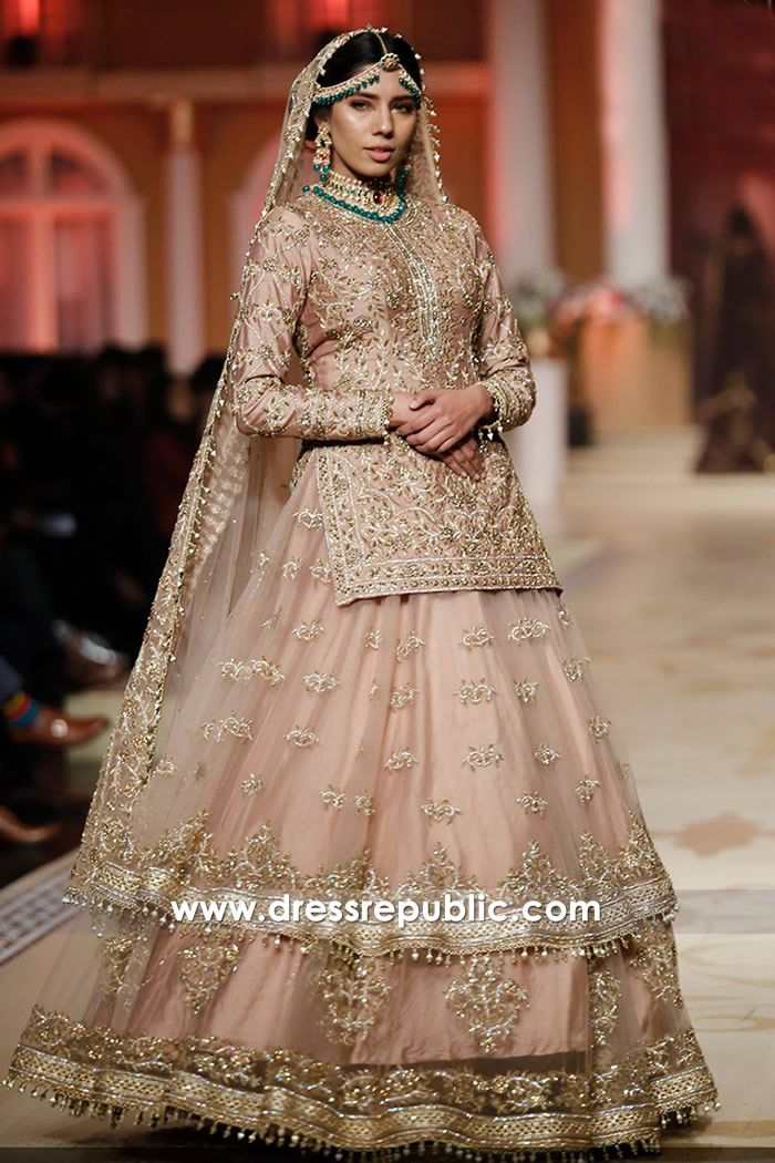 DR14468 - Tea Pink Bridal Lehenga 2018 Collection