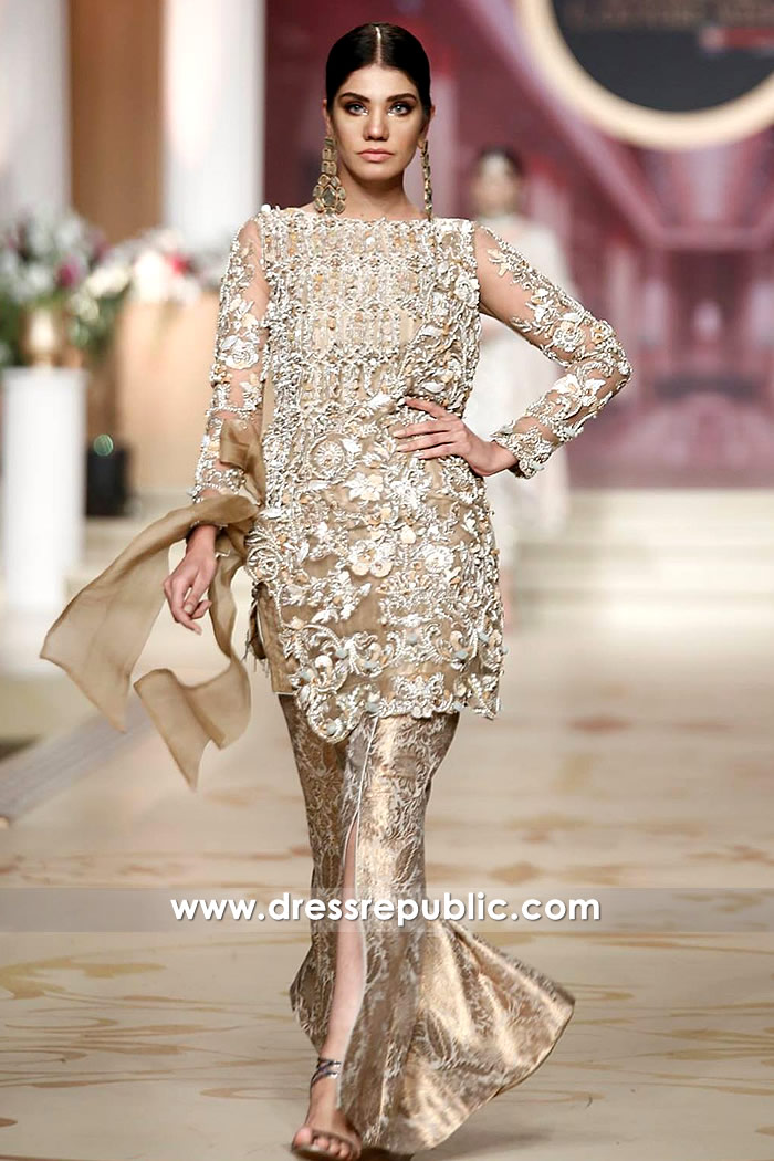 DR14476 - Pakistani Party Wear Dresses 2017 2018 USA