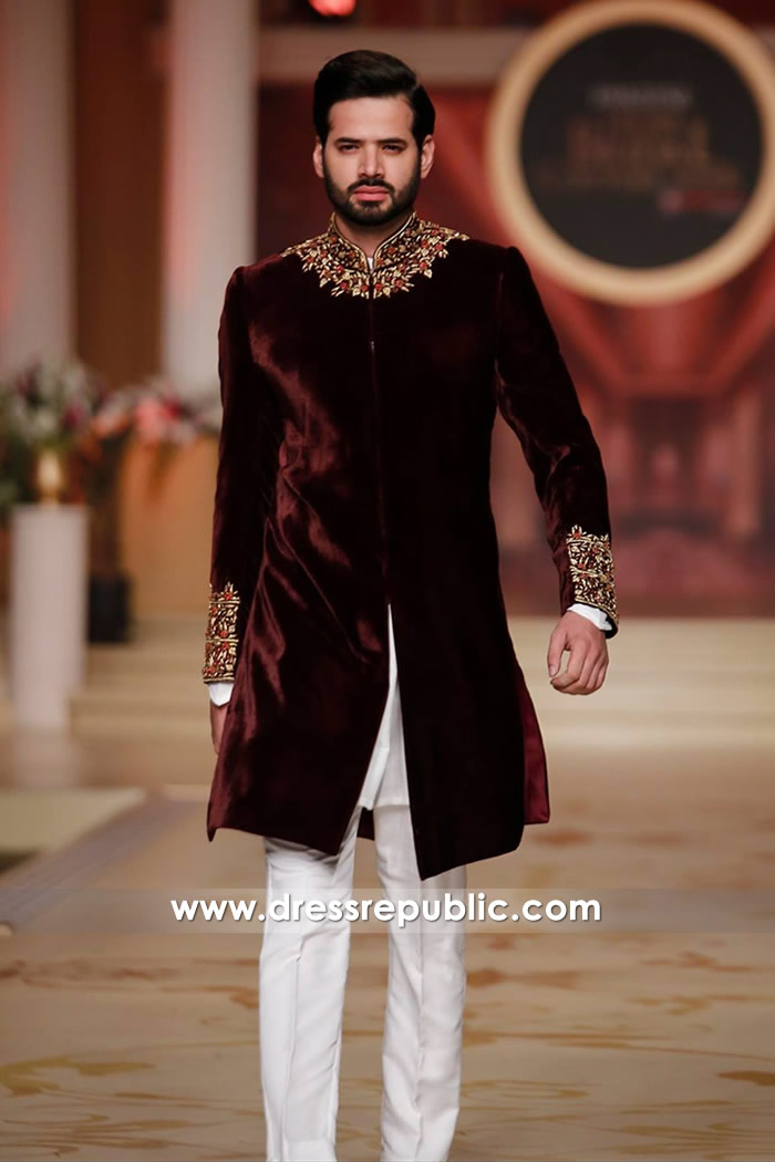 DRM5123 - Indian Designer Groom Sherwani 2018 USA Shop Online