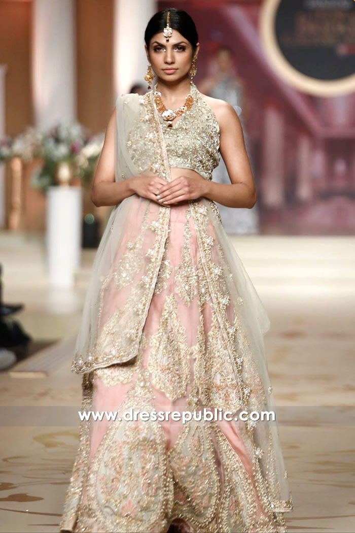 DR14481 - Baby Pink Bridal Dress for South Asian Bride