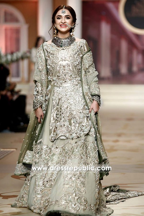 DR14485 - Indian Pakistani Latest Bridal Trends 2018
