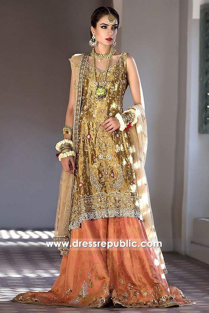 DR14497 - Pakistani Bridal Designer Dress Shop Online in Denmark, Sweden