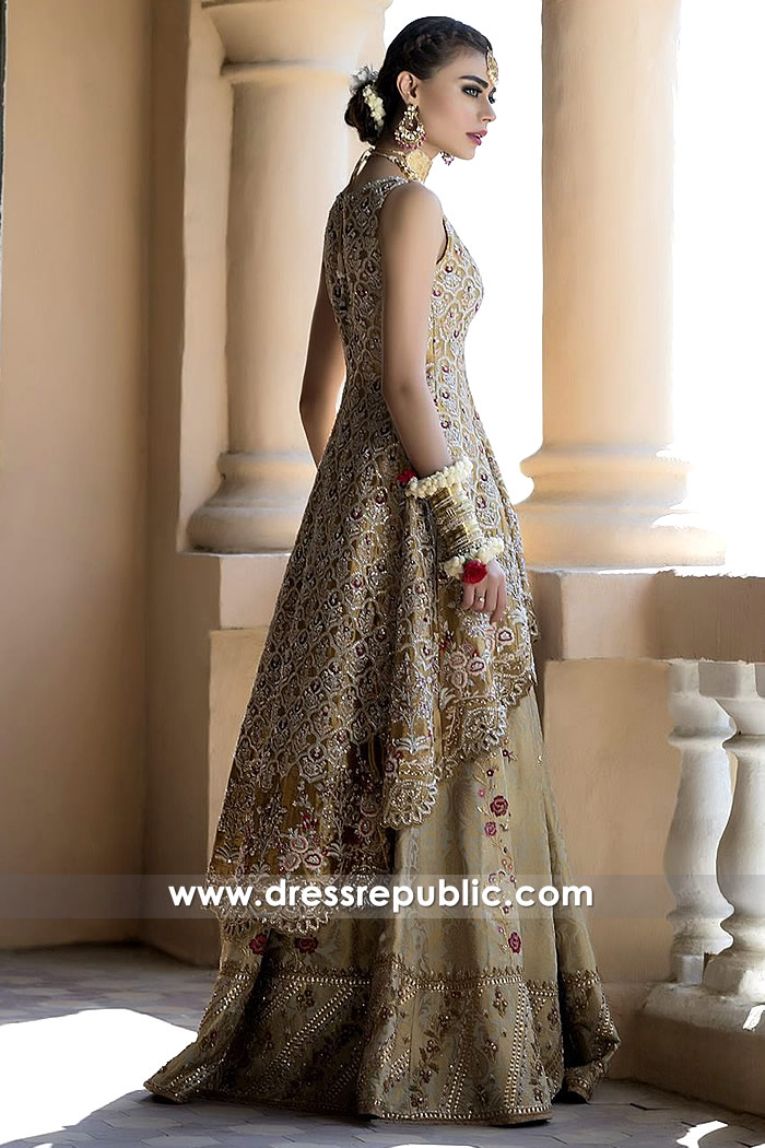 DR14498b - Pakistani Bridal Designer Dress Shop Kuwait