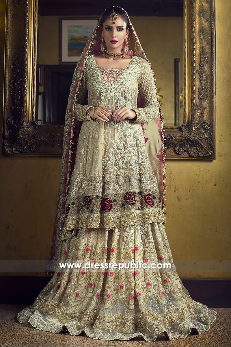7ba7fa6fda Zainab Chottani Bridal Lehenga 2018 Collection Shop Online DR14504