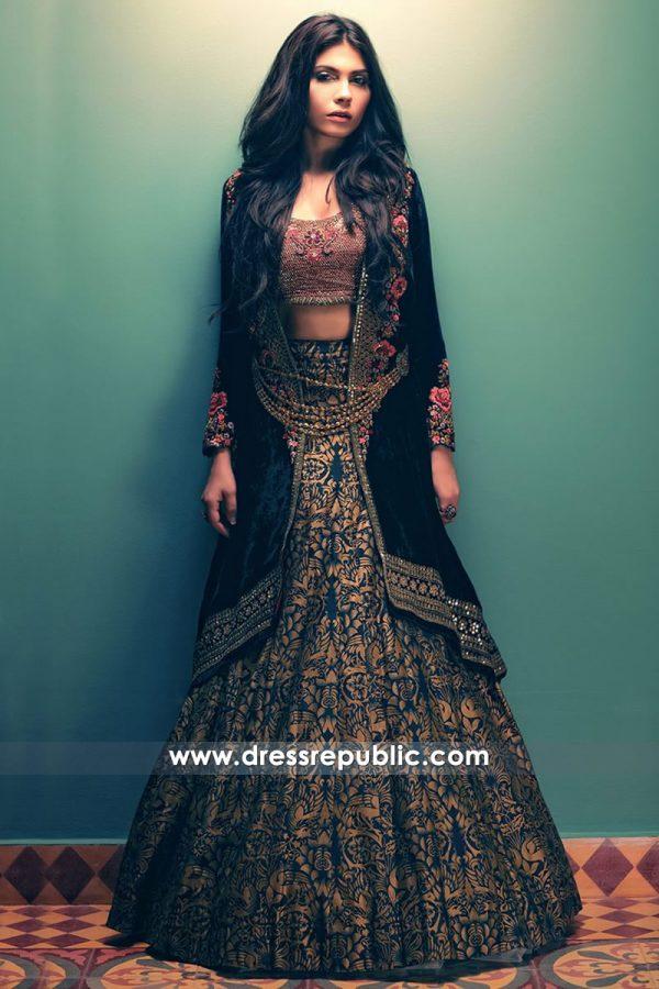 DR14507 - Designer Velvet Lehenga Choli New York, Los Angeles, Miami, Dallas USA