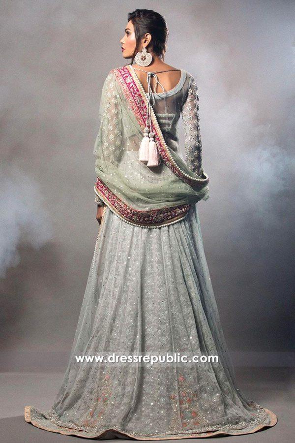 DR14510b - Chiffon Bridal Lehenga Choli by Zainab Chottani