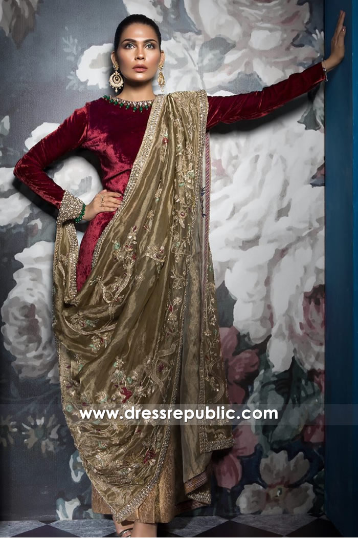 DR14511 - Mahgul Party Wear Dresses 2018 Collection Shop Online USA