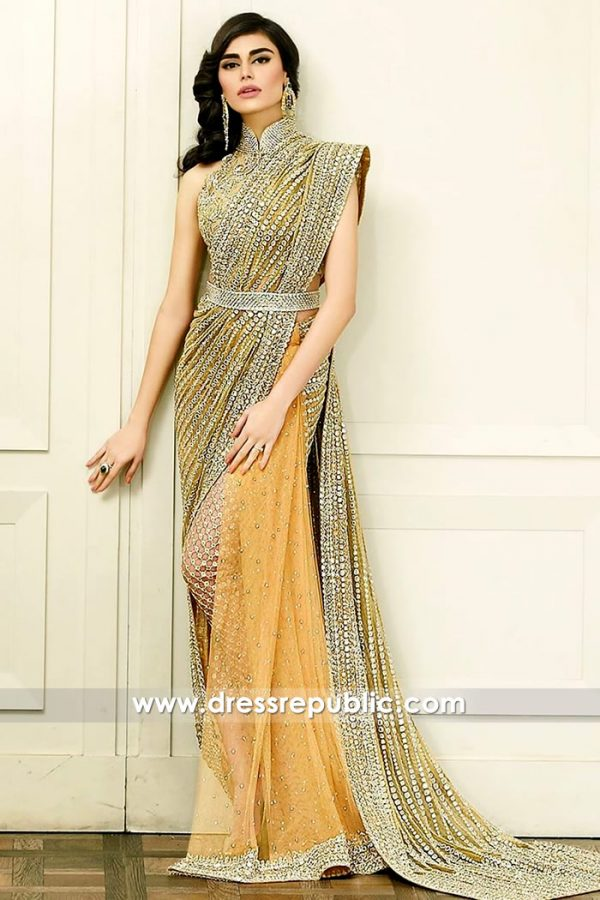 DR14572 Faraz Manan Saree Lehenga Khada Dupatta 2018 Collection Online