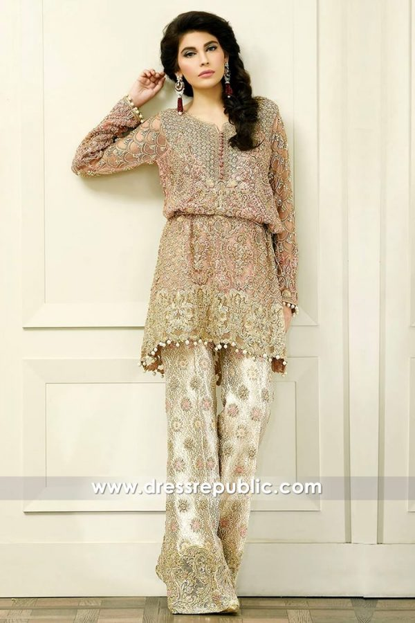 DR14573 Faraz Manan Weddig Guest Dresses 2018 Collection UK, USA, Canada