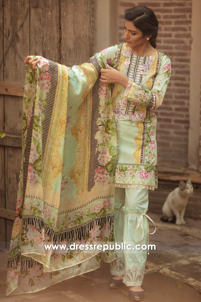 DRP7153 - Firdous Lawn SS18 Collection
