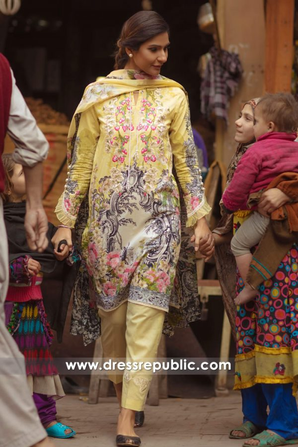DRP7154 - Firdous Lawn SS18 Collection