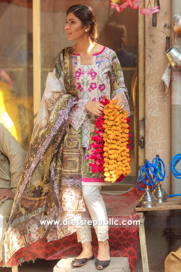 DRP7155 - Firdous Lawn SS18 Collection