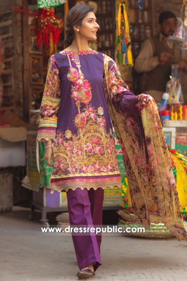 DRP7156 - Firdous Lawn SS18 Collection