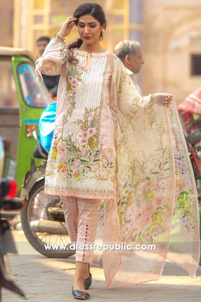 DRP7157 - Firdous Lawn SS18 Collection