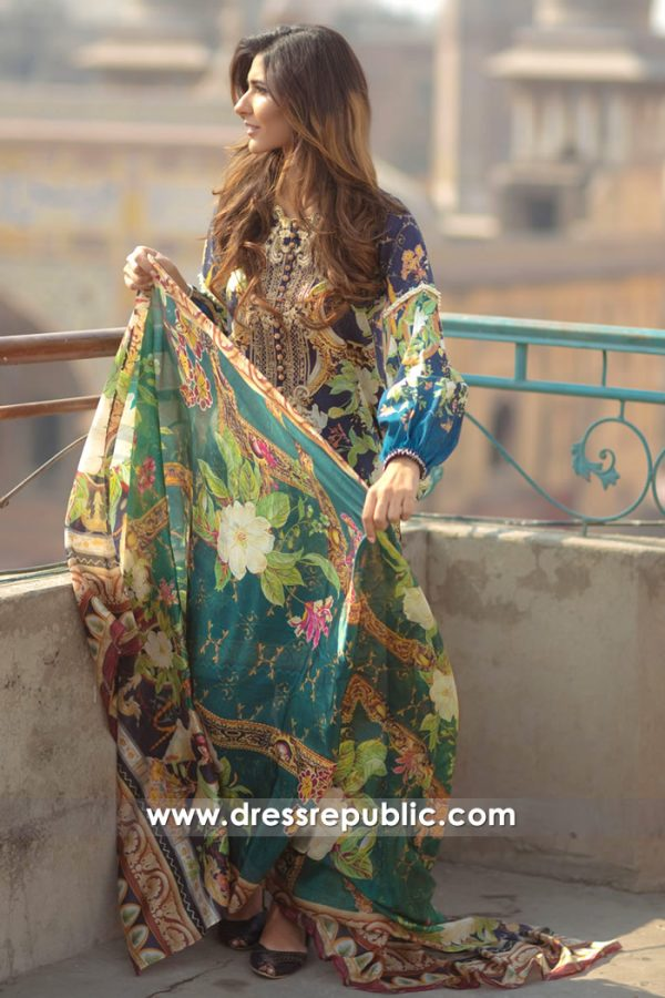 DRP7158 - Firdous Lawn SS18 Collection