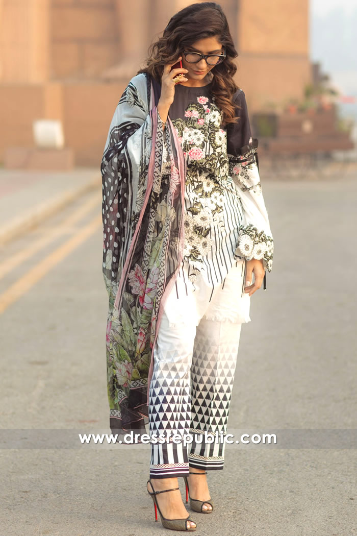 DRP7159 - Firdous Lawn SS18 Collection