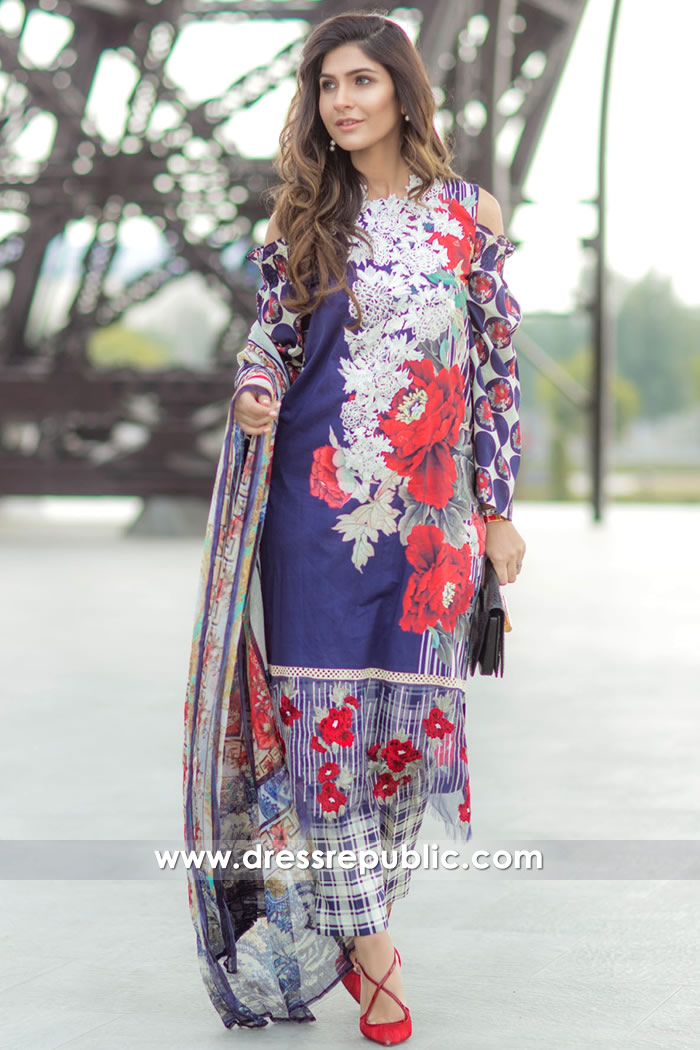 DRP7160 - Firdous Lawn SS18 Collection