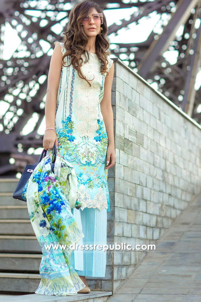 DRP7161 - Firdous Lawn SS18 Collection