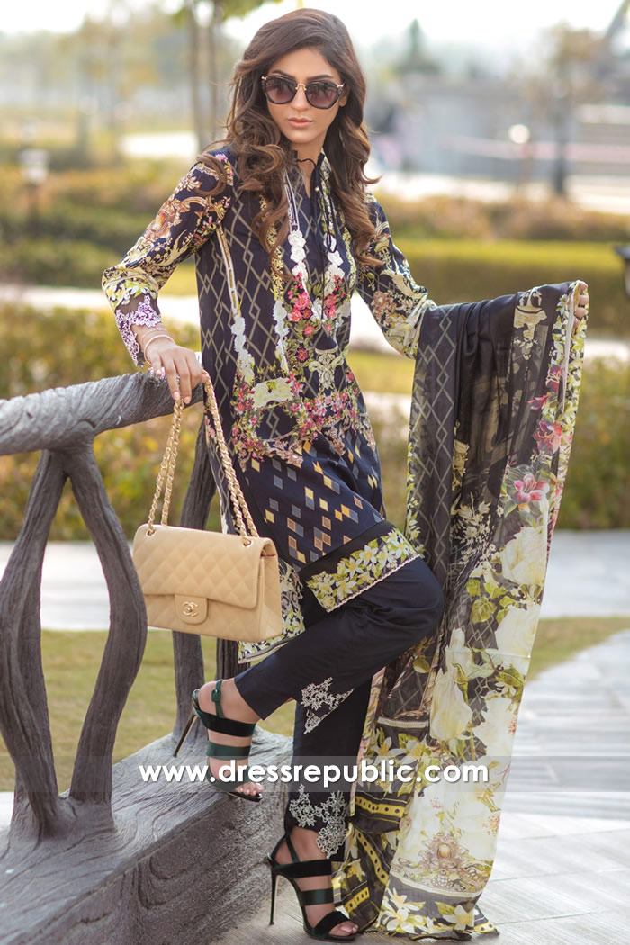 DRP7162 - Firdous Lawn SS18 Collection