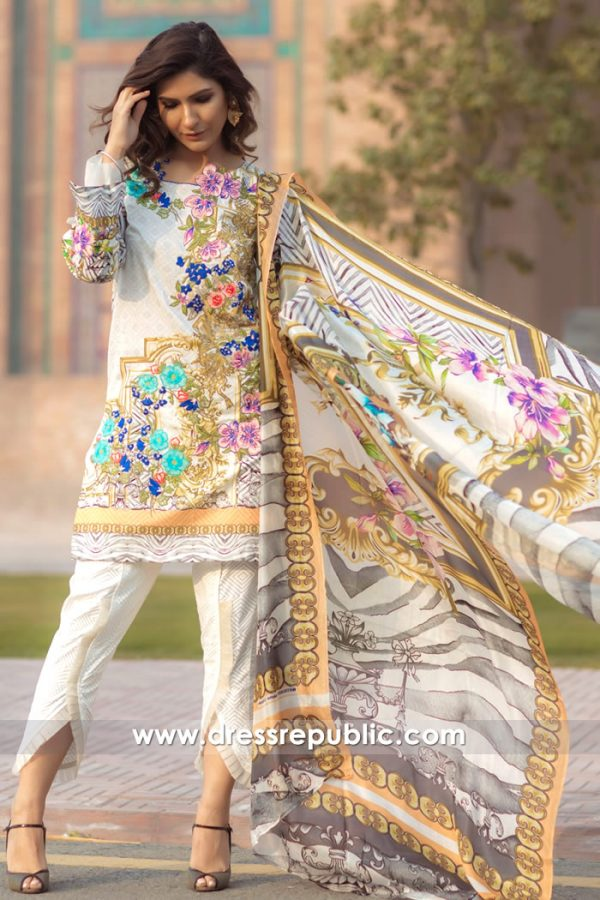 DRP7163 - Firdous Lawn SS18 Collection