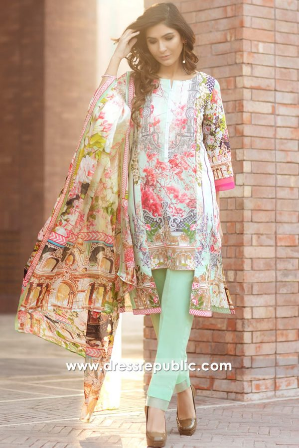DRP7164 - Firdous Lawn SS18 Collection
