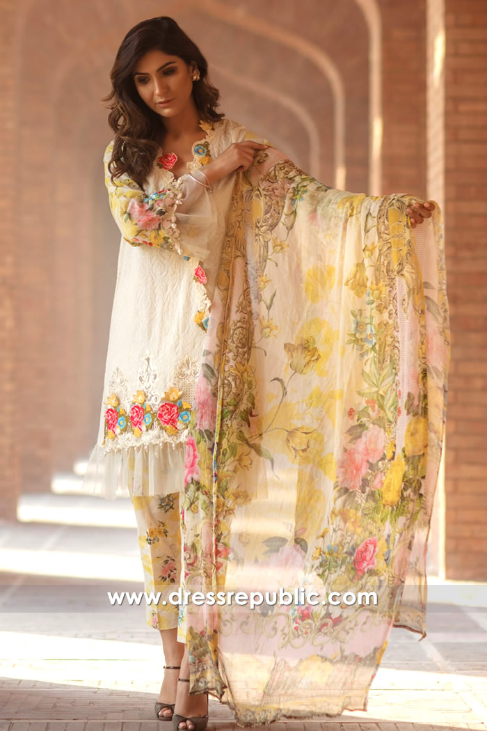DRP7167 - Firdous Lawn SS18 Collection