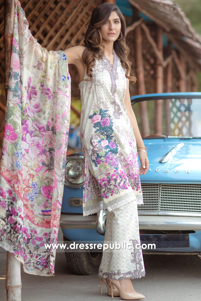 DRP7169 - Firdous Lawn SS18 Collection