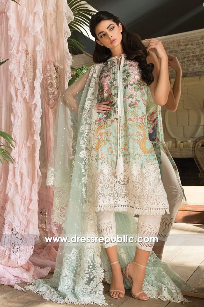 DRP7232 - Pakistani Designer Sobia Nazir Lawn 2018 Collection With Price