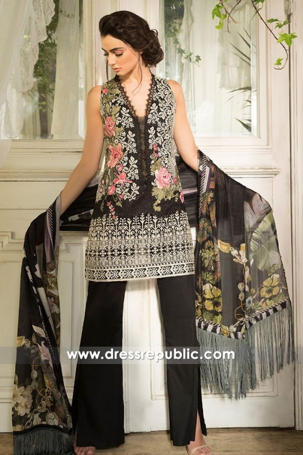 DRP7244 - Sobia Nazir Lawn 2018 France, Belgium, Spain, Germany, Norway