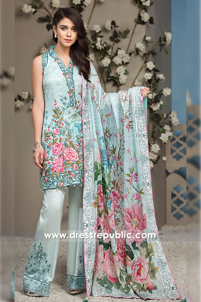 DRP7256 - Printed Dresses for Summer 2018 France, Germany, Italy, Belgium
