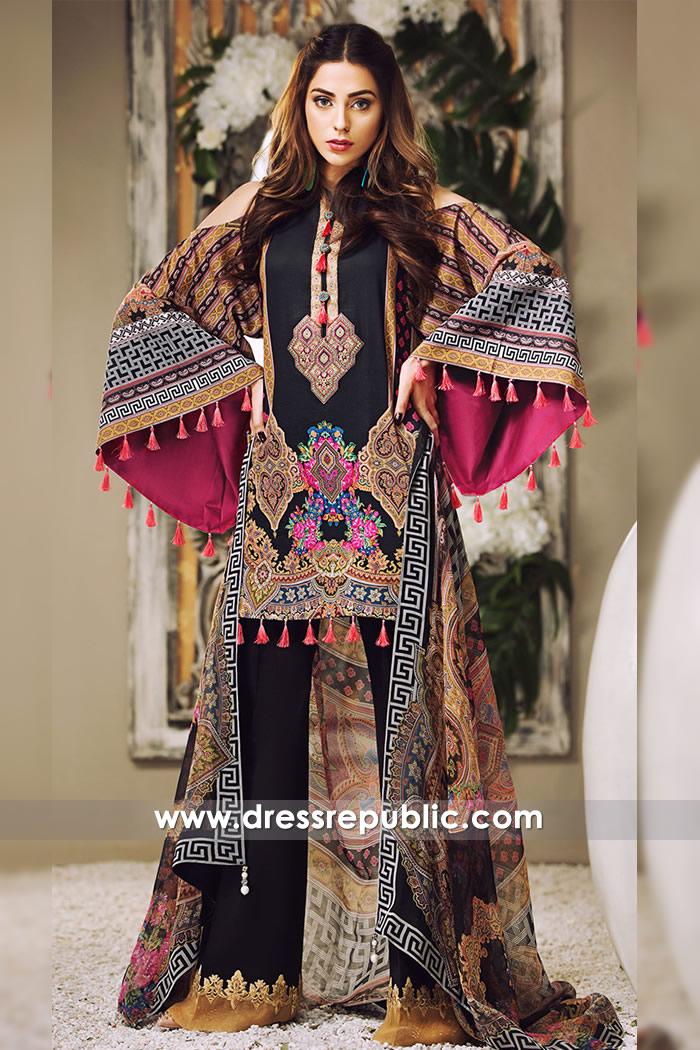 DRP7257 - Pakistani Designer Lawn Suits 2018 Wholesale Suppliers UK, Ireland
