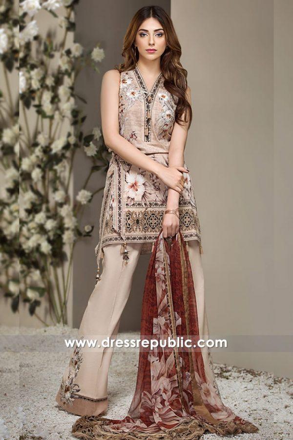 DRP7260 - Pakistani Designer Lawn Suits 2018 Wholesale Suppliers India, Pakistan
