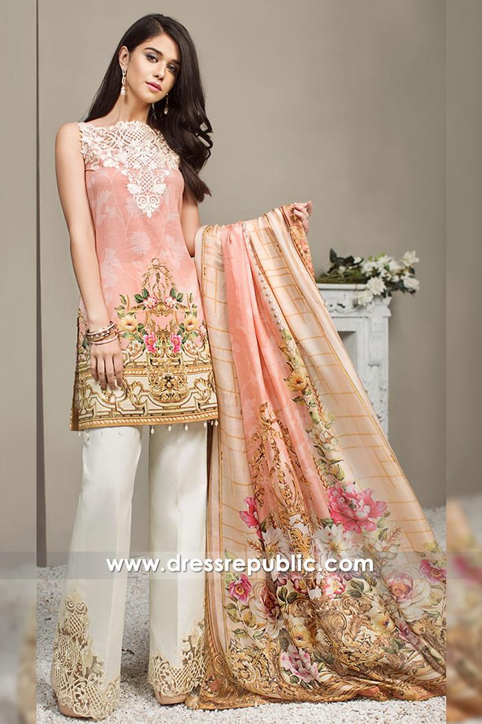 DRP7261 - Pakistani Designer Lawn Suits 2018 Wholesale Suppliers Middle East