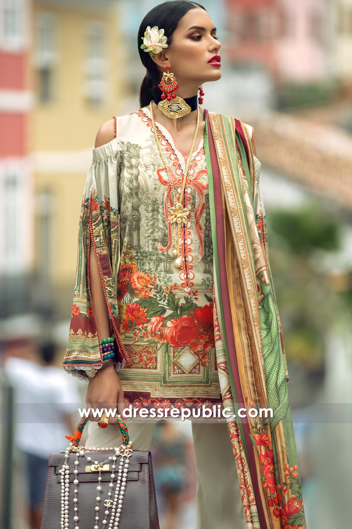 DRP7291 - Elan Lawn 2018 Wholesale Suppliers of Stitched Pakistani Lawn Suits