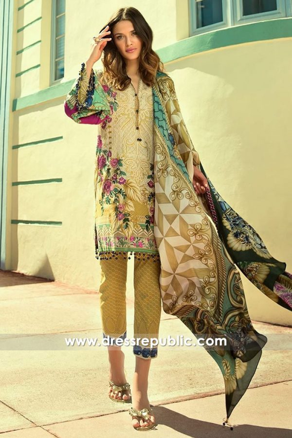 DRP7301 Faraz Manan Lawn 2018 New York, New Jersey, California, USA