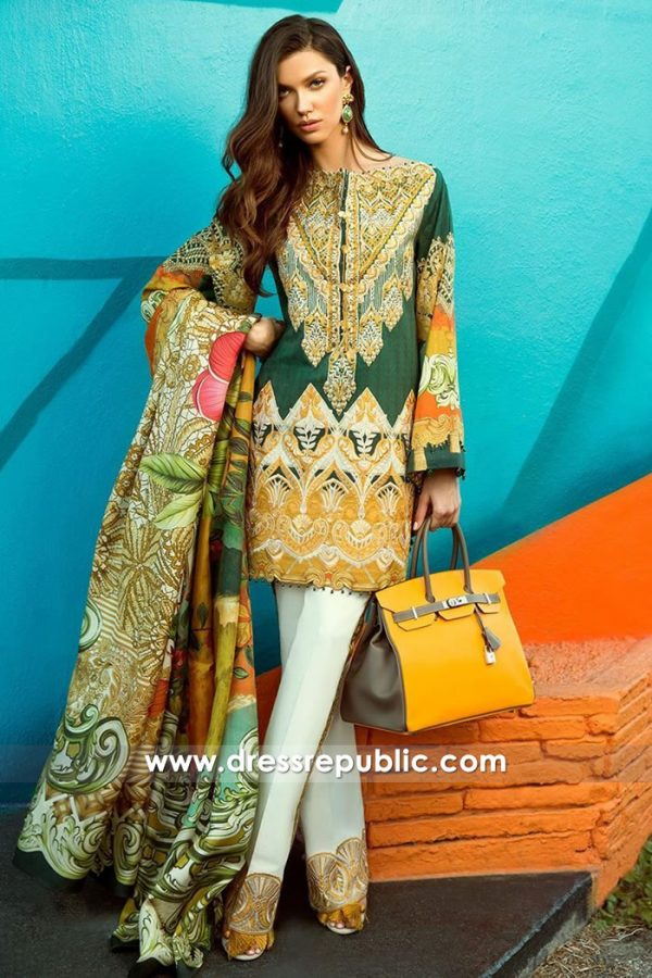 DRP7306 Faraz Manan Lawn 2018 France, Germany, Spain, Belgium, Italy